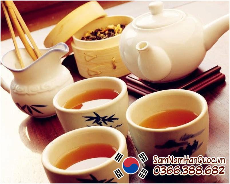 tác dụng của trà hồng sâm