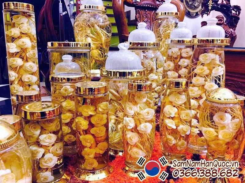 Nên chọn rượu ngâm sâm tươi Hàn Quốc tại cửa hàng uy tín hoặc tự nấu