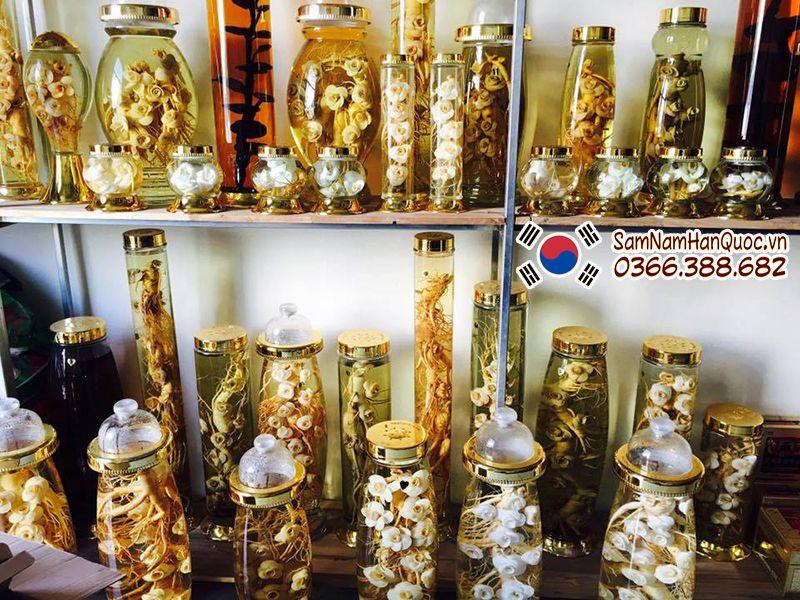 Cách sử dụng sâm tươi Hàn Quốc ngâm rượu