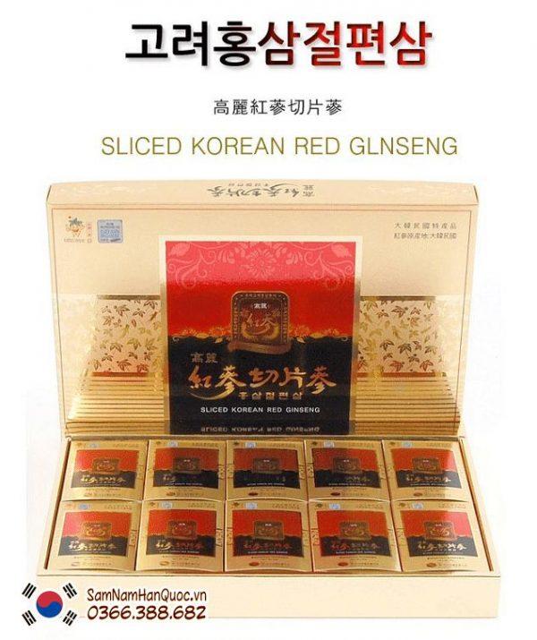 Hồng sâm thái lát tẩm mật ong Hàn Quốc trị xơ vữa động mạch