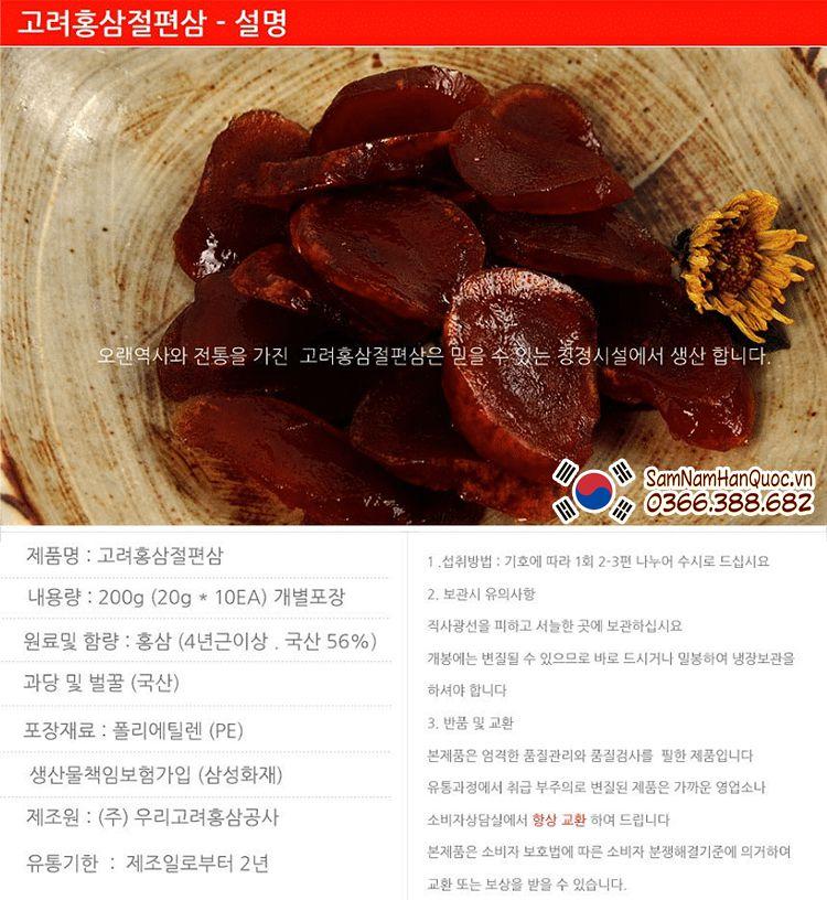 Địa chỉ bán Hồng sâm thái lát tẩm mật ong Hàn Quốc