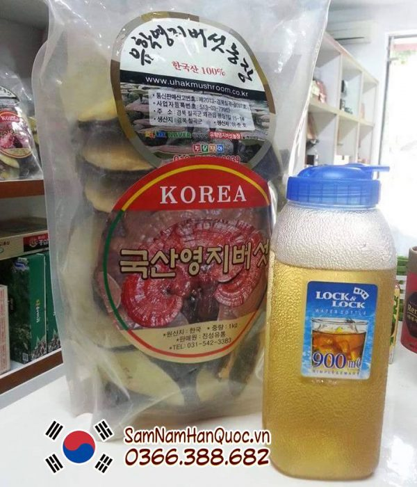 Nấm linh chi vàng Hàn Quốc Uhak loại 1 cao cấp chính hãng