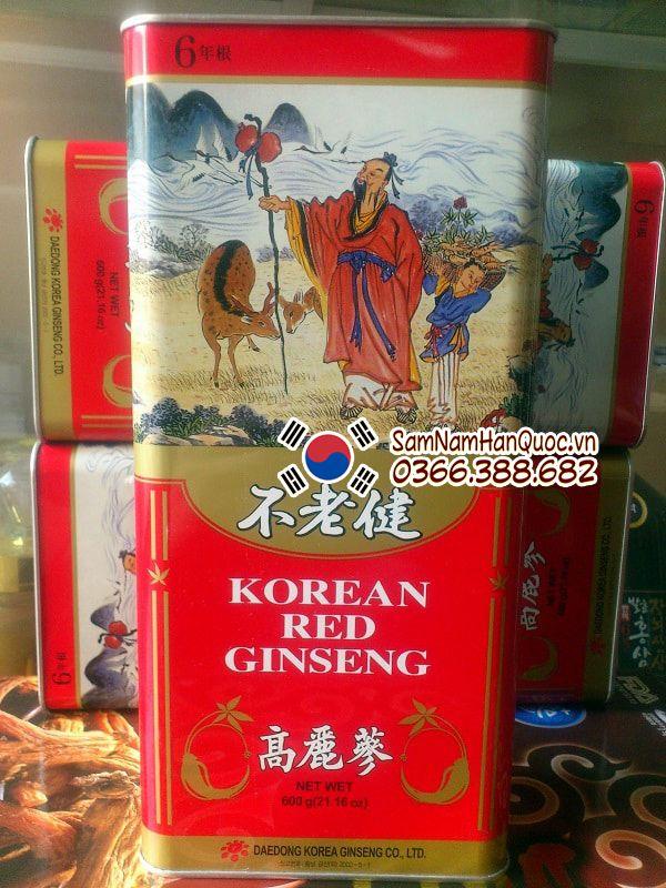 cách dùng Nhân sâm khô Hàn Quốc 600g