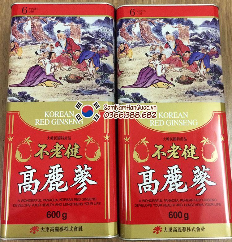 công dụng Nhân sâm khô Hàn Quốc 600g 6 năm tuổi