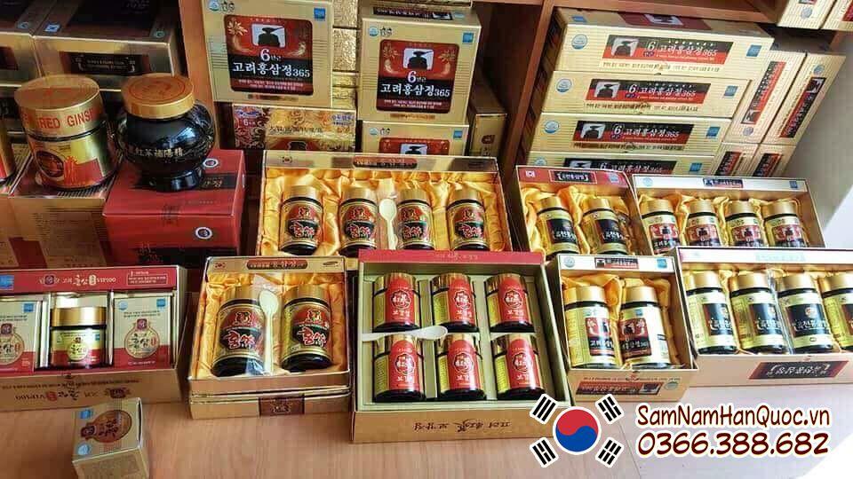 Cao hồng sâm 365 hộp 4 lọ 240g Hàn Quốc