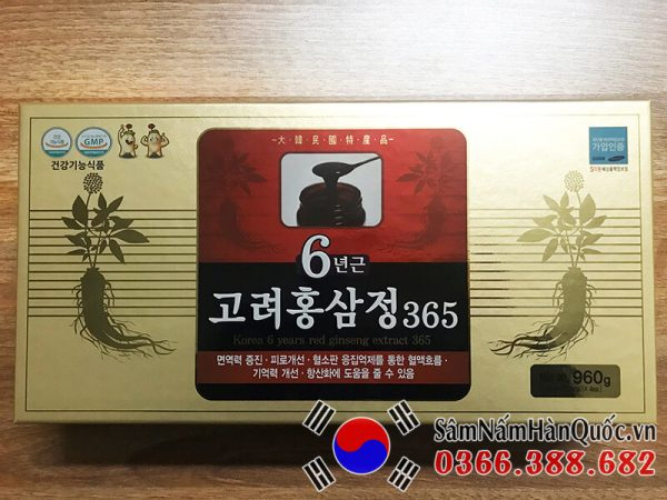 Cao hồng sâm 365 4 lọ 240g chính hãng Hàn Quốc giá rẻ