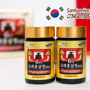Cao hồng sâm 365 hộp 4 lọ x240g Hàn Quốc bồi bổ sức khỏe