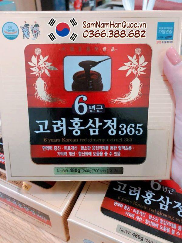 Cao hồng sâm 365 hộp 2 lọ x 240g chống mệt mỏi tăng cường sức khỏe