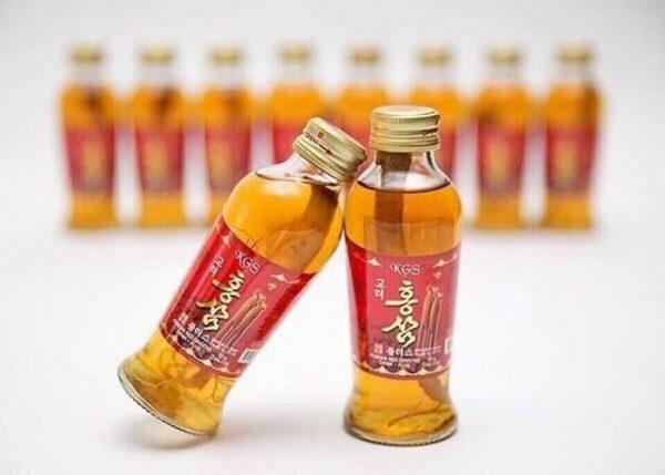 Nước hồng sâm nguyên củ thùng 10 chai 120ml thơm bổ dưỡng
