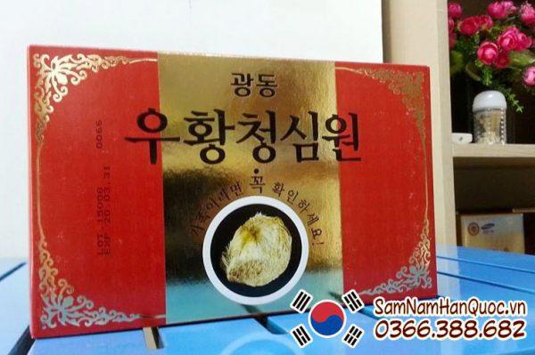 An cung ngưu hoàng tổ kén giữa hộp đỏ chính hãng Hàn Quốc