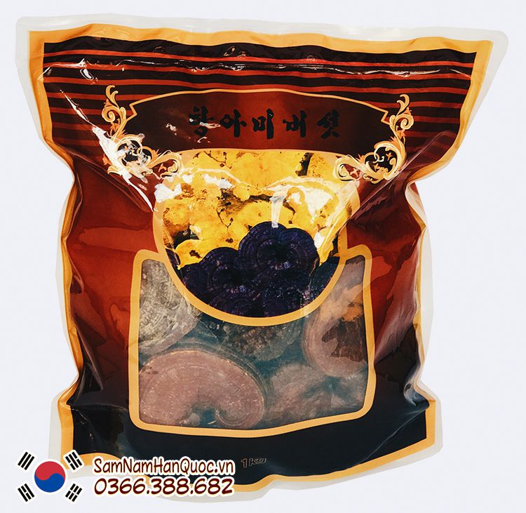 mua Nấm linh chi núi đá đỏ Hàn Quốc chính hãng giá rẻ