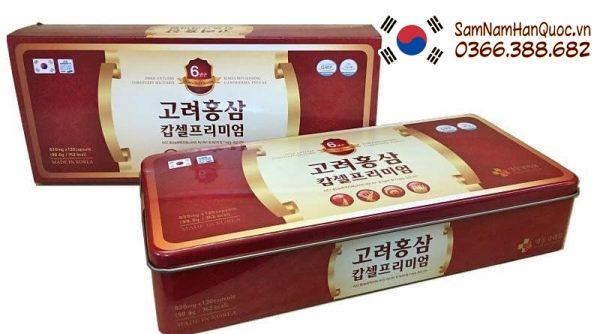 Viên Hồng Sâm Cao Cấp Hộp 120 Viên giảm đường, hạ áp, giảm mỡ máu