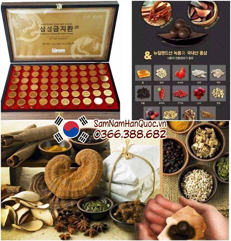 cách sử dụng An cung ngưu hoàng hoàn hộp gỗ Hàn Quốc