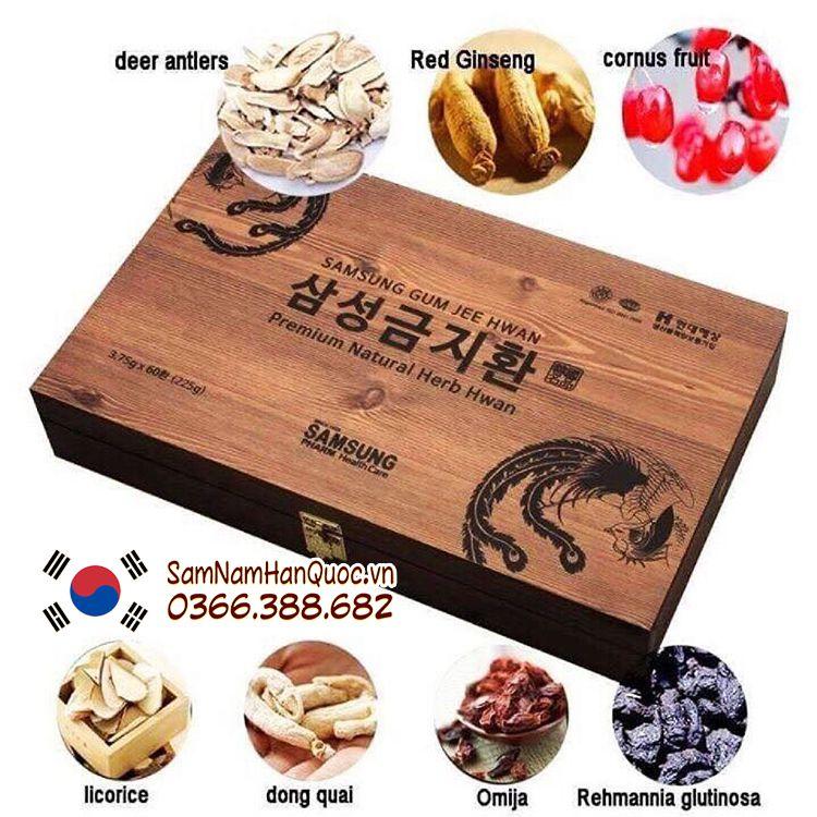 An cung ngưu hoàng hoàn hộp gỗ Hàn Quốc giá rẻ