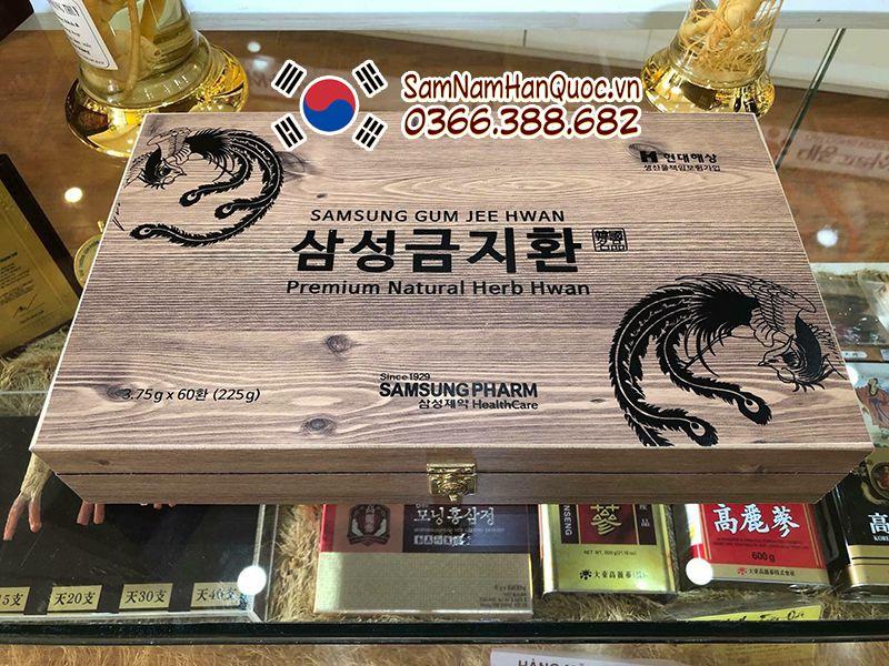 cách dùng An cung ngưu hoàng hoàn hộp gỗ Hàn Quốc