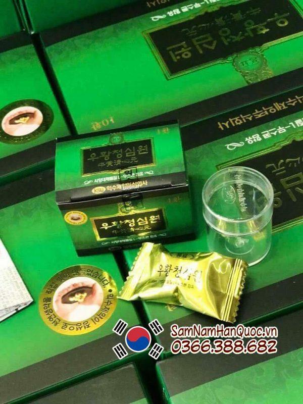 An cung ngưu hoàng hoàn IKSU hộp xanh hỗ trợ điều trị cao huyết áp