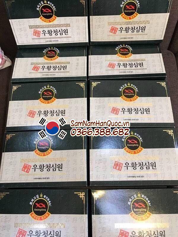 cách sử dụng An cung ngưu hoàng Hàn Quốc