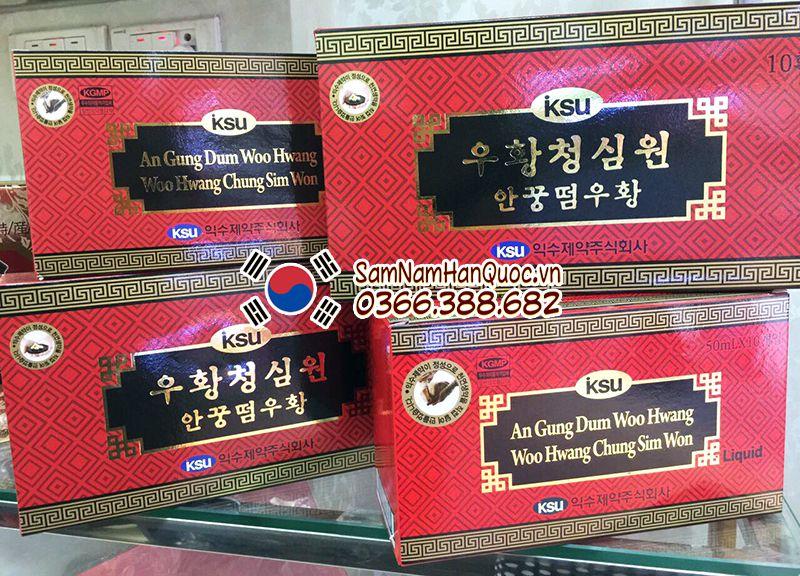 An cung ngưu hoàng hoàn dạng nước Hàn Quốc hộp đỏ 10 chai 50ml