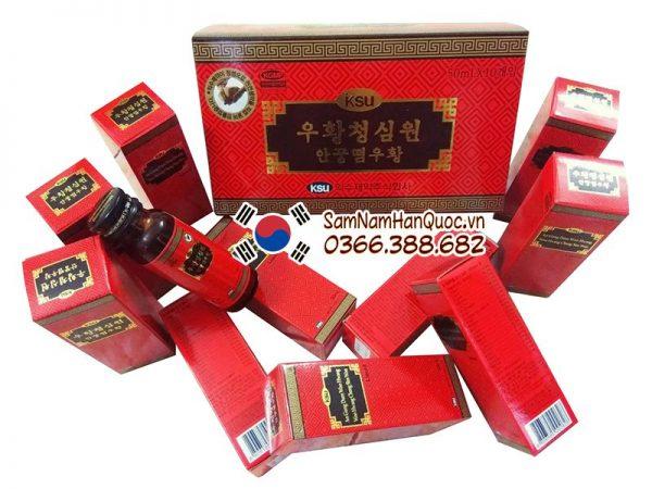 An cung ngưu hoàng hoàn IKSU dạng nước hộp đỏ 10 chai 50ml