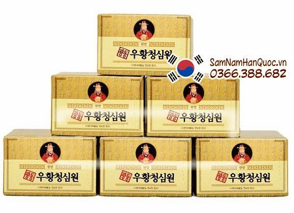 An cung ngưu hoàng hoàn hộp vàng giá rẻ chính hãng Hàn Quốc