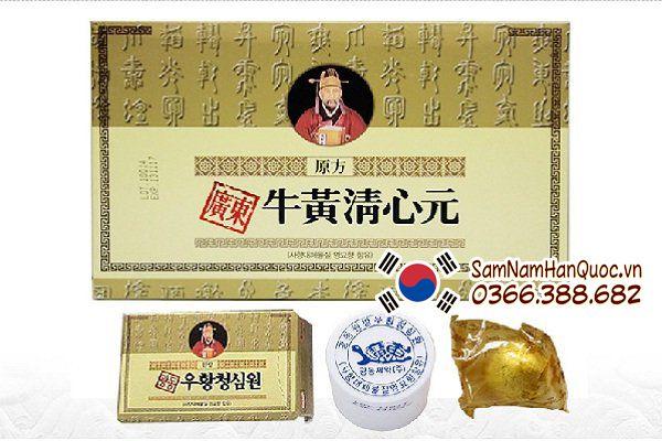 công dụng An cung ngưu hoàng hoàn hộp vàng giá rẻ chính hãng Hàn Quốc