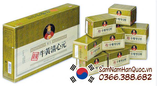 mua An cung ngưu hoàng hoàn hộp vàng giá rẻ chính hãng Hàn Quốc