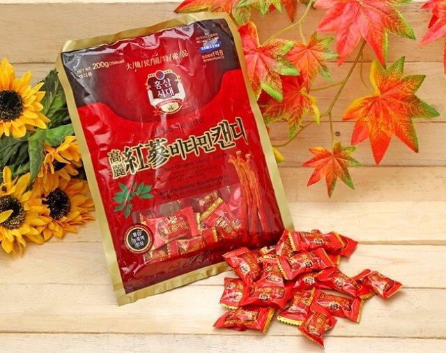 Kẹo sâm Hàn Quốc chính hãng giá rẻ