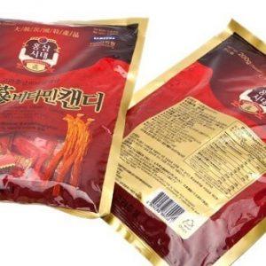 Bộ 3 gói Kẹo Hồng Sâm Vitamin Hàn Quốc 200g