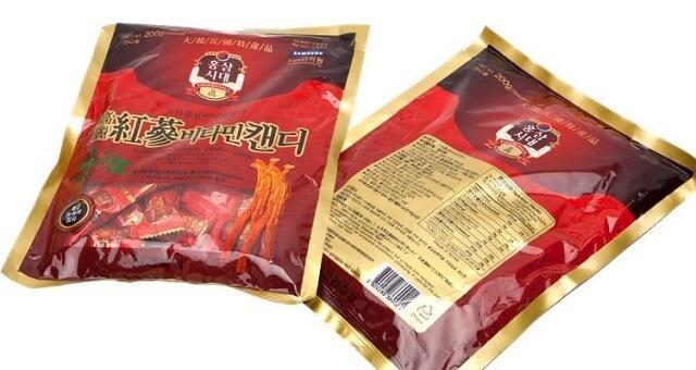 Kẹo sâm Hàn Quốc giá bao nhiêu?
