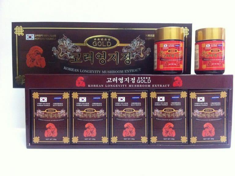 Cao linh chi nâu 50gx5 lọ Hàn Quốc
