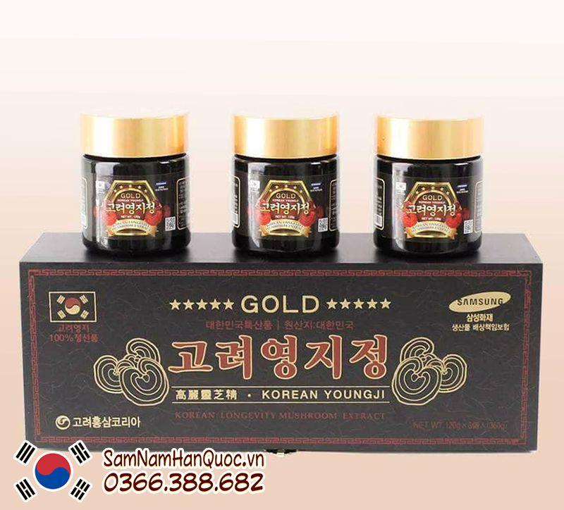 Cao linh chi hộp đen Hàn Quốc hộp 3 lọ 120g chính hãng giá rẻ