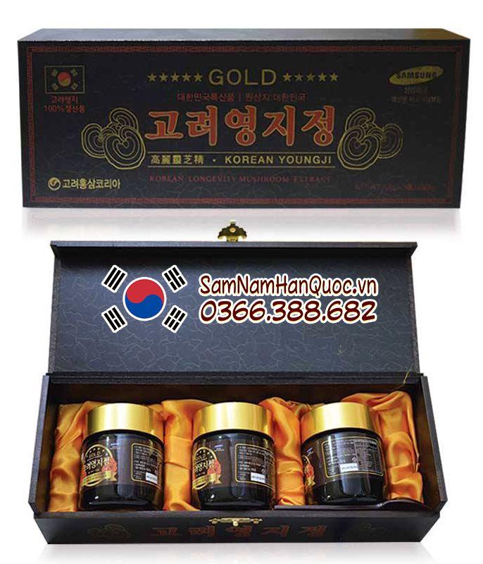 cách dùng Cao linh chi hộp đen Hàn Quốc