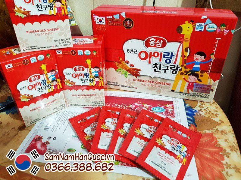 Hồng sâm Hàn Quốc 6 năm tuổi có được dùng cho trẻ không?