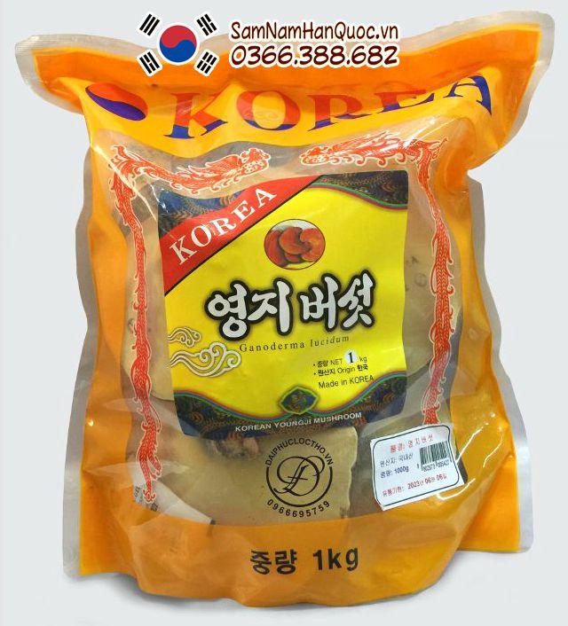 mua Nấm linh chi Hàn Quốc túi vàng 1kg