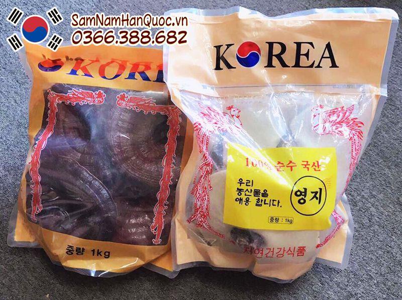 Nấm linh chi Hàn Quốc túi vàng giá rẻ