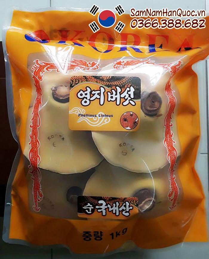 Nấm linh chi Hàn Quốc túi vàng chính hãng