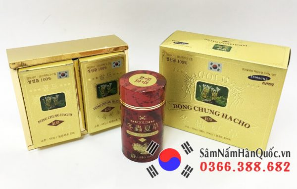 Viên Đông trùng hạ thảo Gold Hàn Quốc bồi bổ sức khỏe