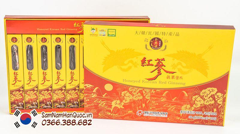 tác dụng Hồng sâm lát tẩm mật ong 10 củ Daedong hàn quốc