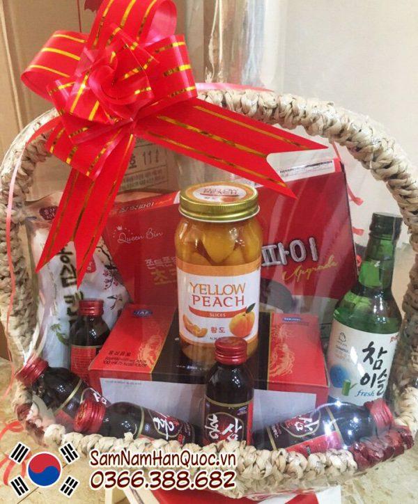 Giỏ quà tặng Hồng sâm Hàn Quốc rẻ đẹp - Quà tặng Tết 2019 ý nghĩa