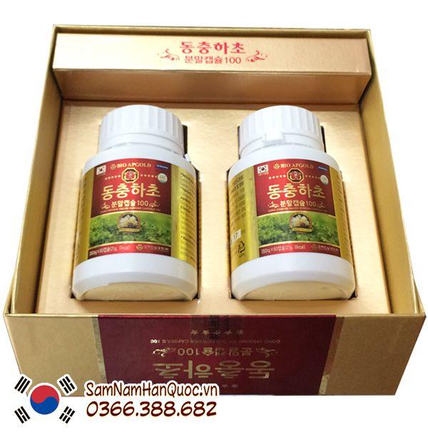 cách dùng đông trùng hạ thảo Bio Apgold Hàn Quốc