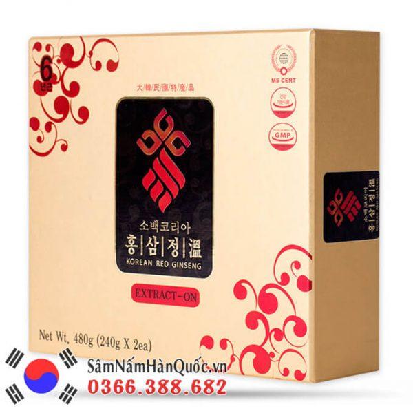 Cao hồng sâm Sobaek hộp 2 lọ 240g phục hồi thể trạng nhanh