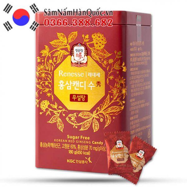 Kẹo hồng sâm không đường KGC hộp 180g sang trọng đẳng cấp