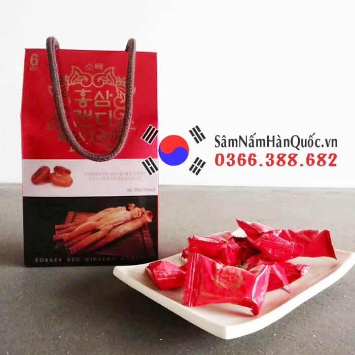 Kẹo hồng sâm Sobaek hộp 200g