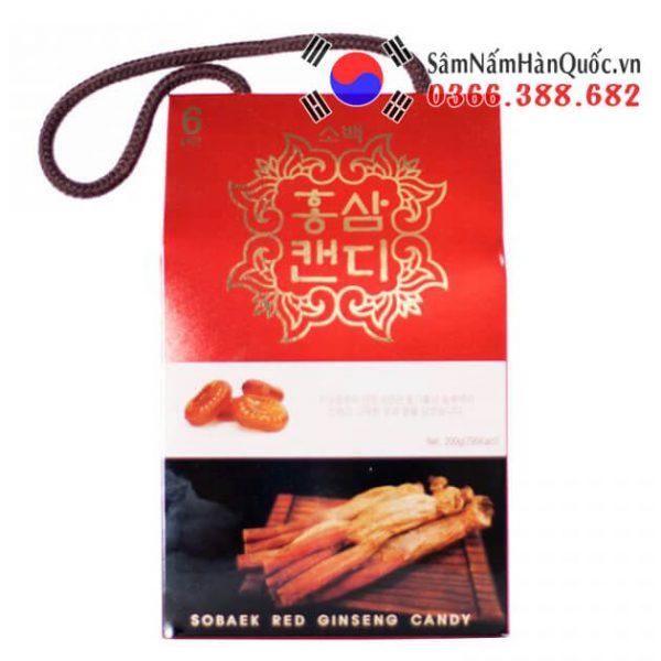 Kẹo hồng sâm Sobaek hộp 200g quà biếu sang trọng nhỏ gọn
