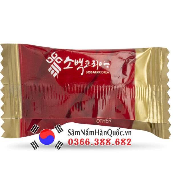 Kẹo hồng sâm Sobaek túi 200g